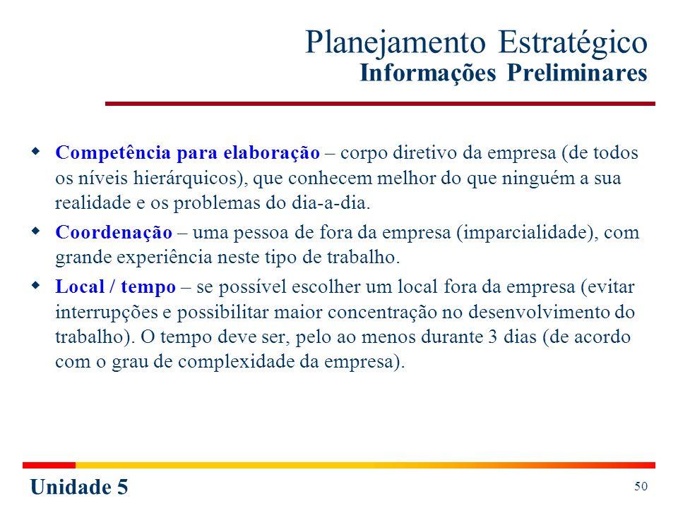 Planejamento Estratégico Informações Preliminares