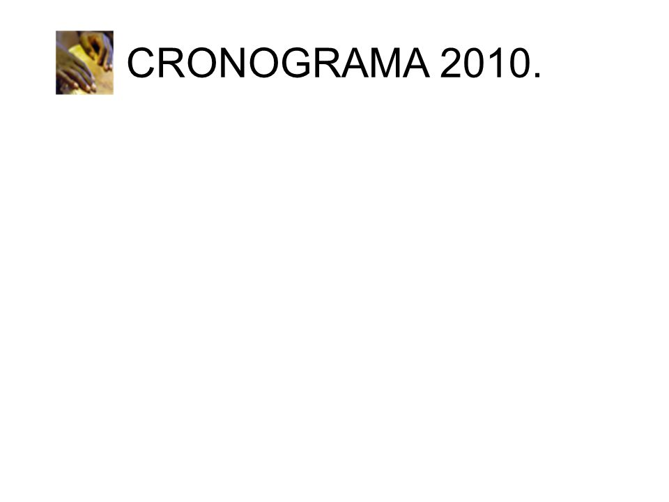 CRONOGRAMA 2010.