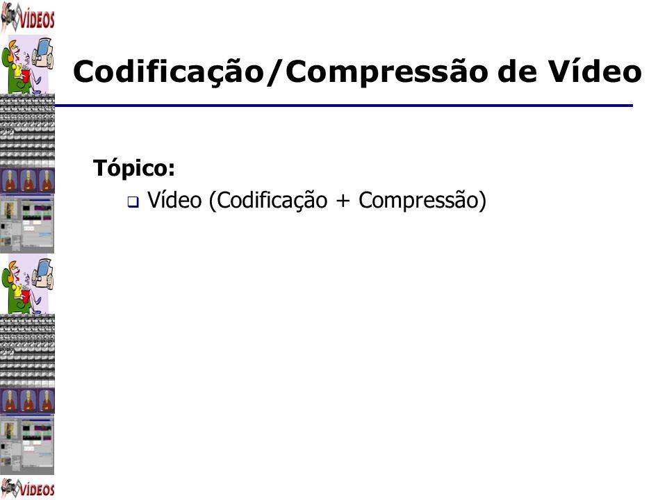 Tópico: Vídeo (Codificação + Compressão)