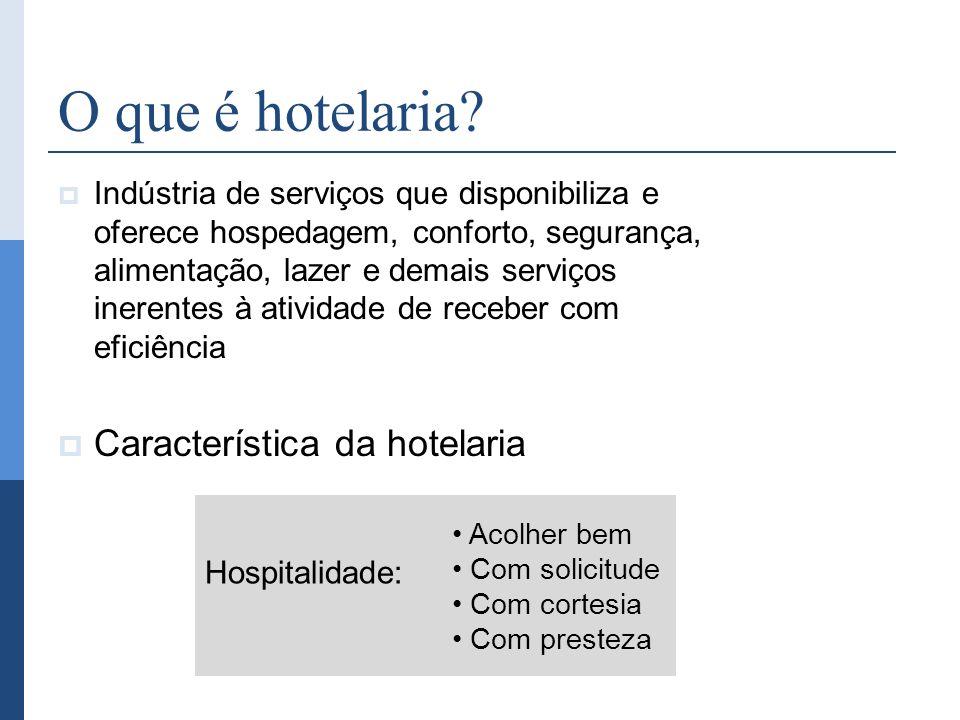 O que é hotelaria Característica da hotelaria