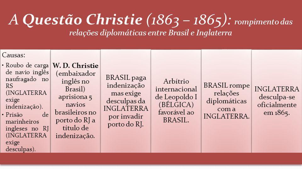 A Questão Christie (1863 – 1865): rompimento das relações diplomáticas entre Brasil e Inglaterra