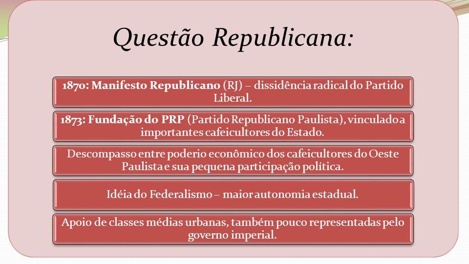 Idéia do Federalismo – maior autonomia estadual.