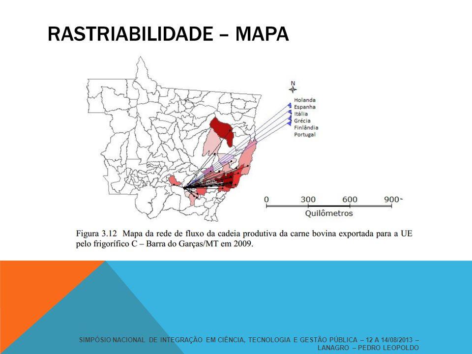 Rastriabilidade – mapa