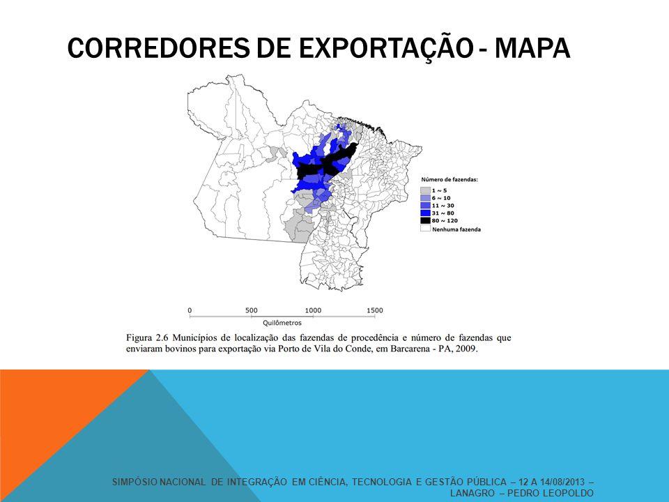 CORREDORES DE EXPORTAÇÃO - MAPA
