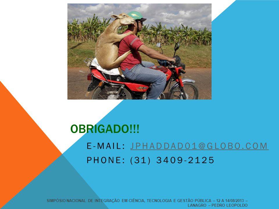 E-mail: jphaddad01@globo.com Phone: (31) 3409-2125