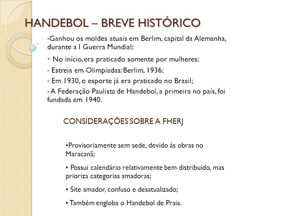 HANDEBOL – BREVE HISTÓRICO