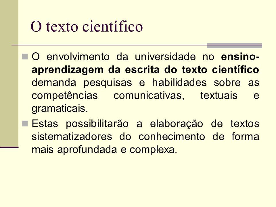 O texto científico