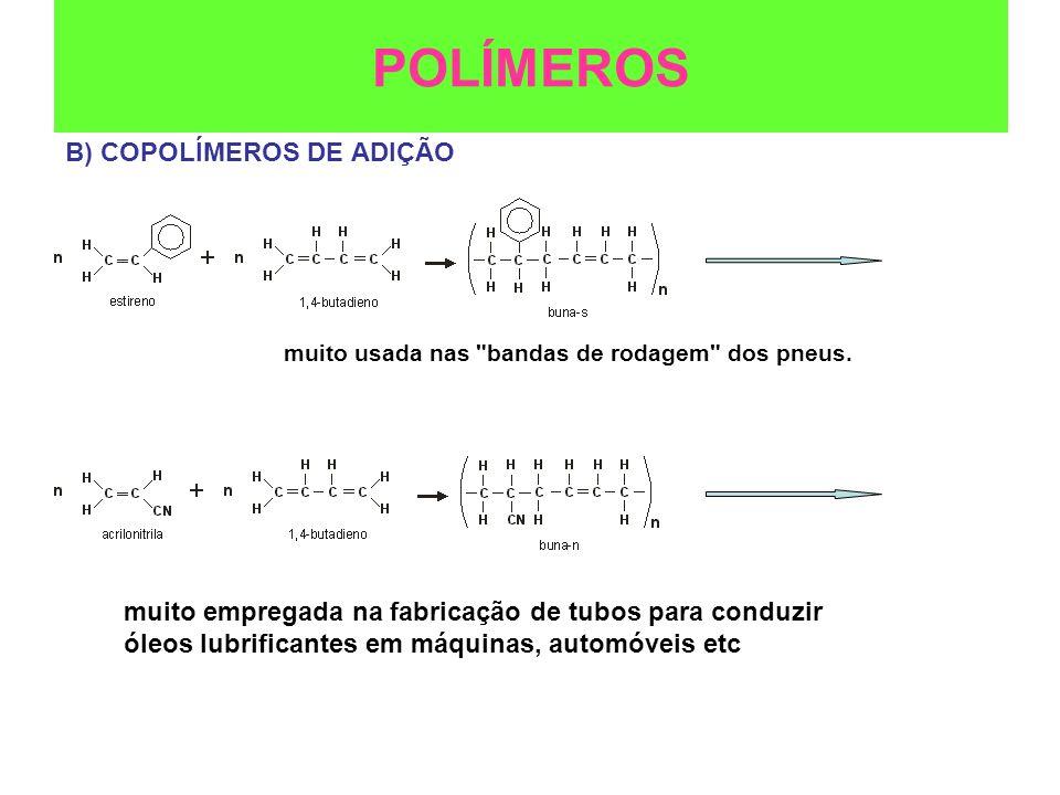 POLÍMEROS B) COPOLÍMEROS DE ADIÇÃO