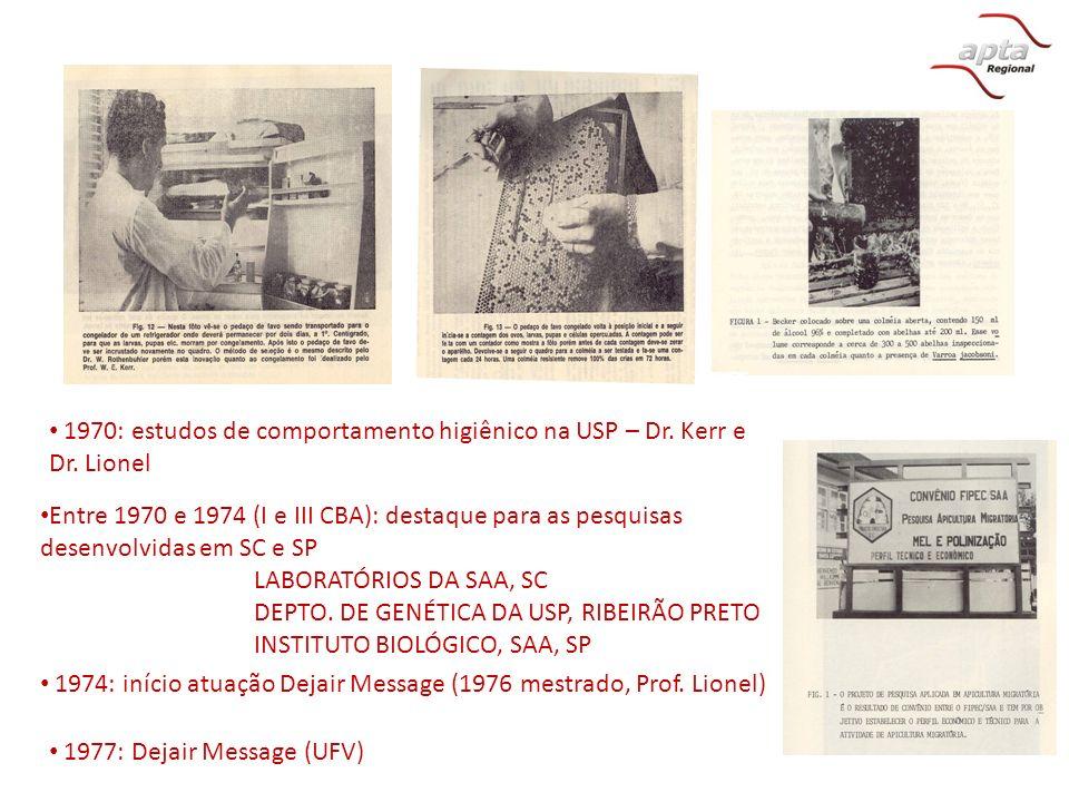 DEPTO. DE GENÉTICA DA USP, RIBEIRÃO PRETO INSTITUTO BIOLÓGICO, SAA, SP