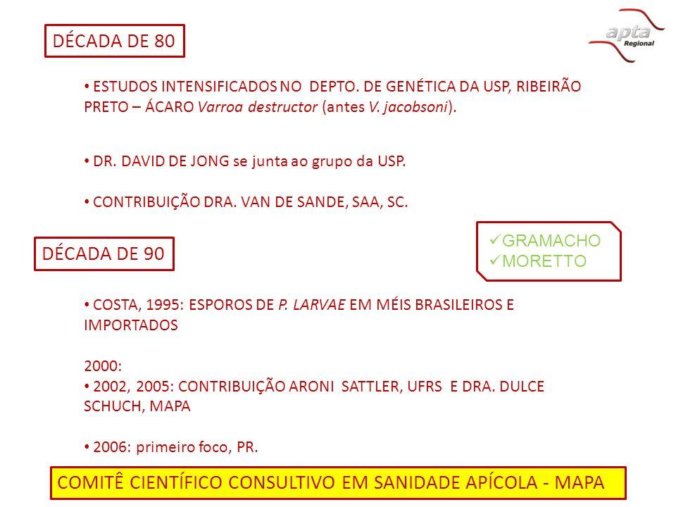 COMITÊ CIENTÍFICO CONSULTIVO EM SANIDADE APÍCOLA - MAPA