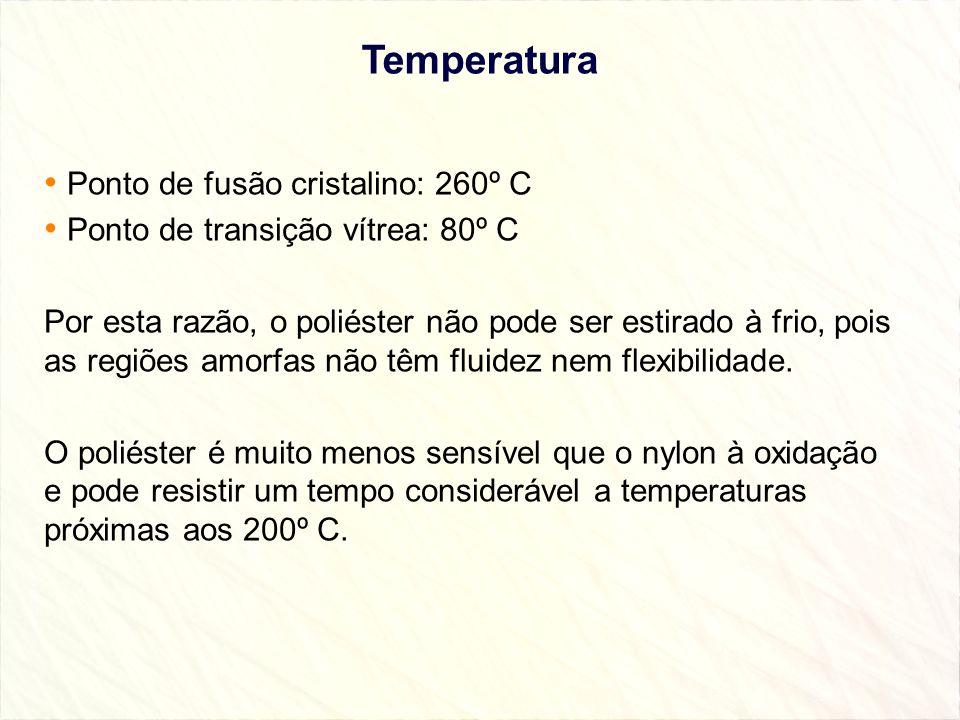 Temperatura Ponto de fusão cristalino: 260º C