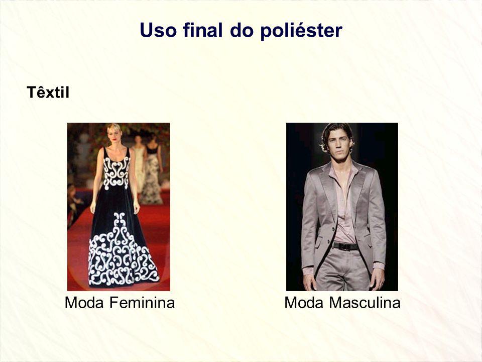 Uso final do poliéster Têxtil Moda Feminina Moda Masculina