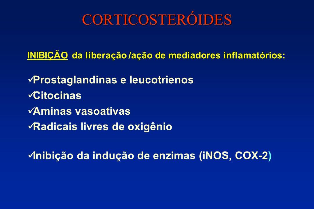 CORTICOSTERÓIDES Prostaglandinas e leucotrienos Citocinas