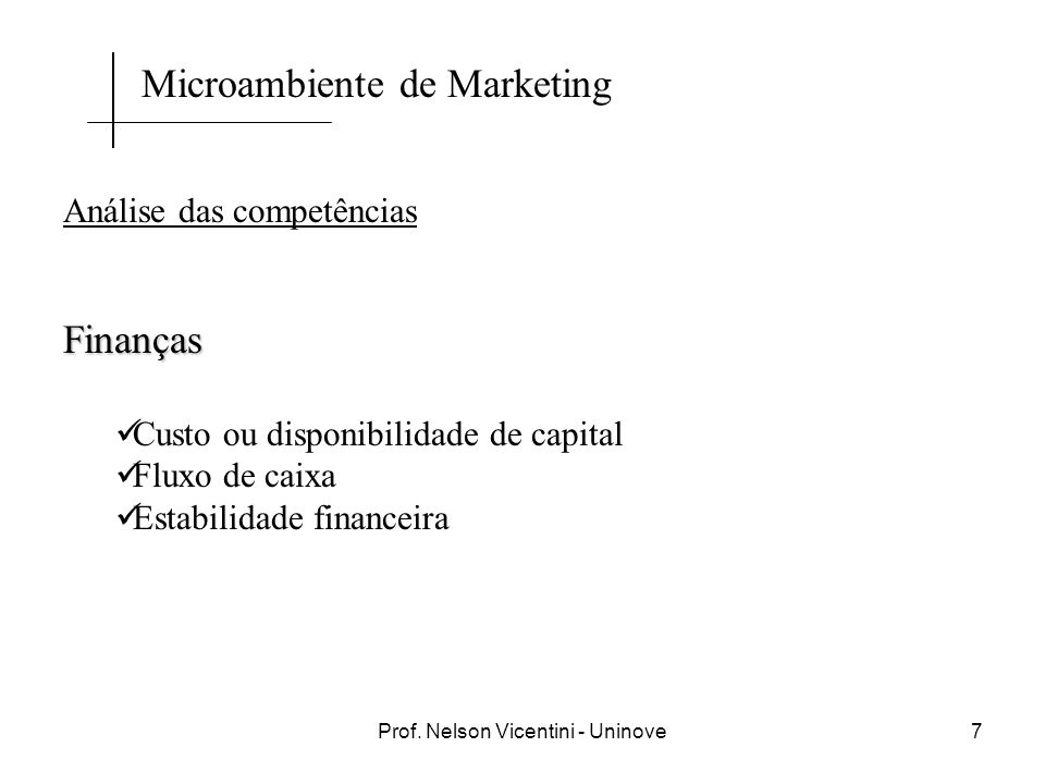 Prof. Nelson Vicentini - Uninove