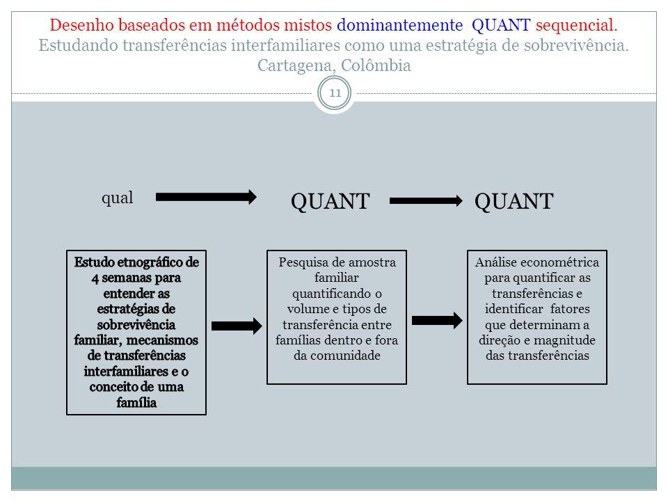 Desenho baseados em métodos mistos dominantemente QUANT sequencial