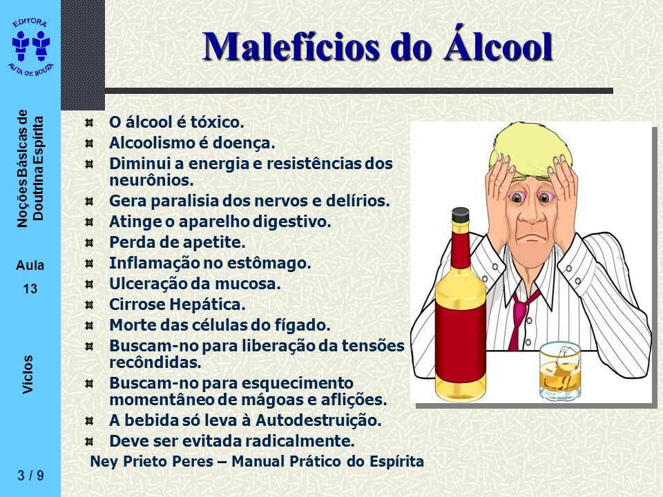 Malefícios do Álcool O álcool é tóxico. Alcoolismo é doença.