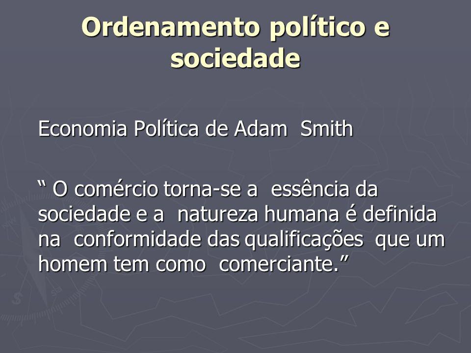 Ordenamento político e sociedade