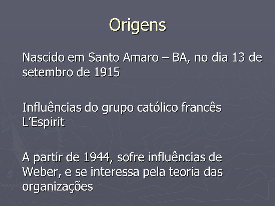 Origens Nascido em Santo Amaro – BA, no dia 13 de setembro de 1915