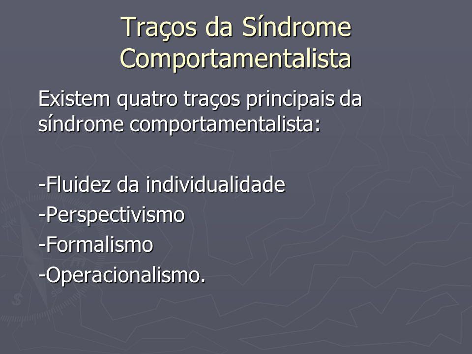 Traços da Síndrome Comportamentalista
