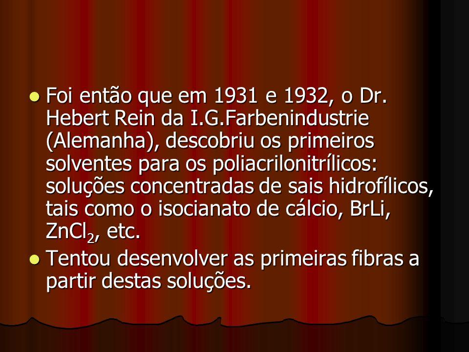 Foi então que em 1931 e 1932, o Dr. Hebert Rein da I. G