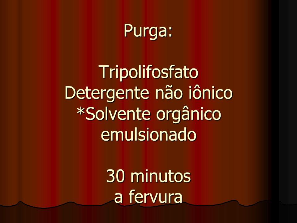 Purga: Tripolifosfato Detergente não iônico