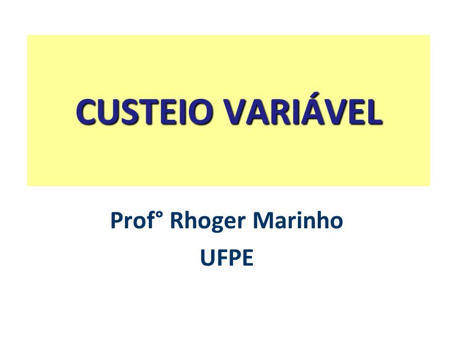 Prof° Rhoger Marinho UFPE