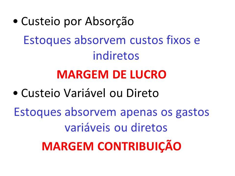 MARGEM DE LUCRO MARGEM CONTRIBUIÇÃO
