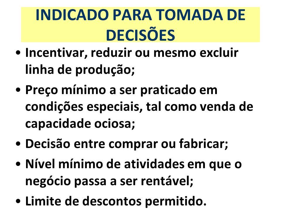INDICADO PARA TOMADA DE DECISÕES