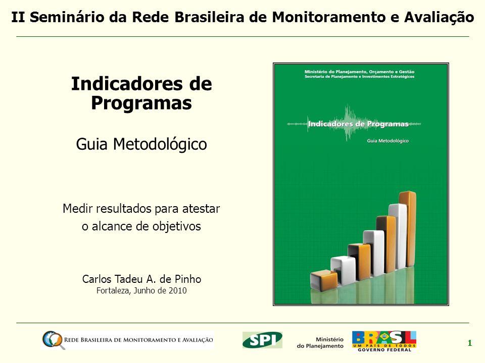 II Seminário da Rede Brasileira de Monitoramento e Avaliação