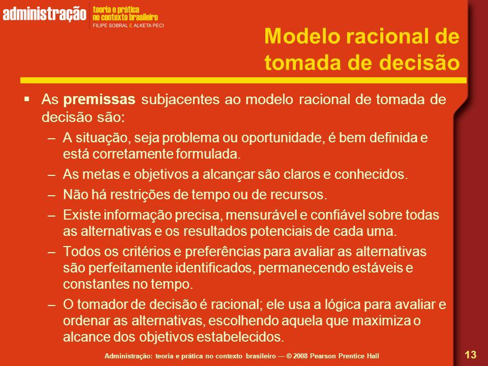 Modelo racional de tomada de decisão
