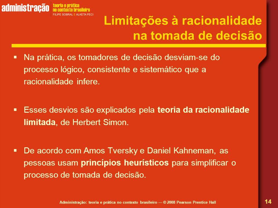 Limitações à racionalidade na tomada de decisão