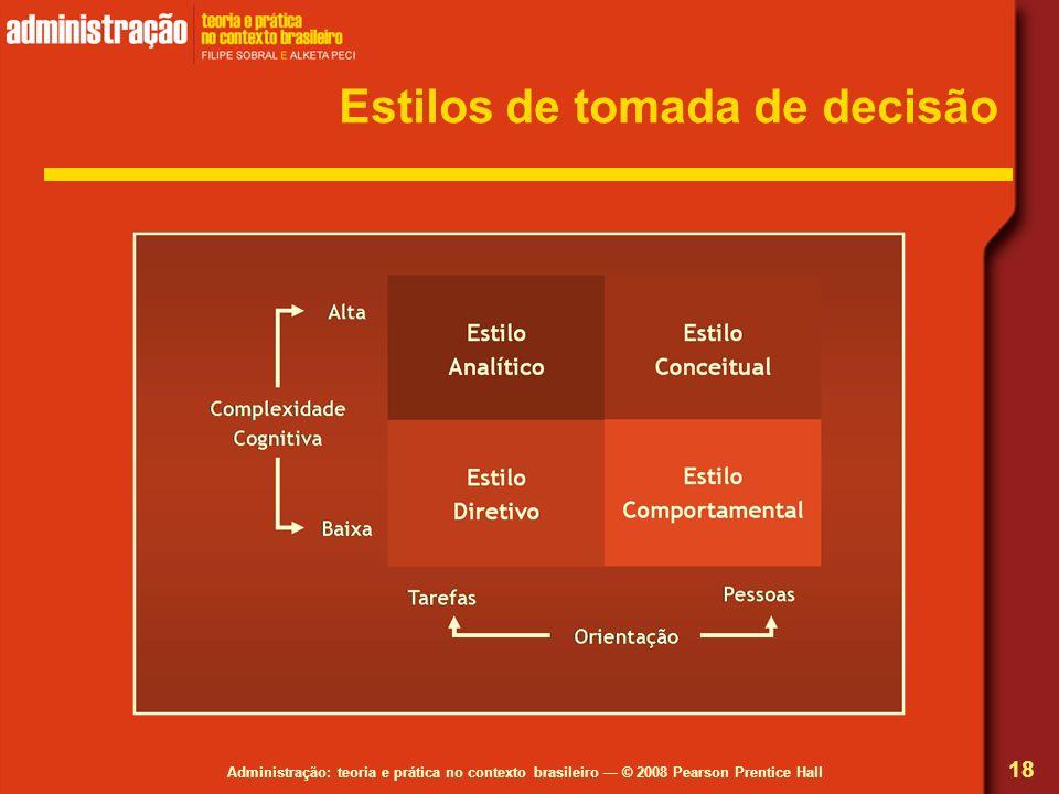 Estilos de tomada de decisão