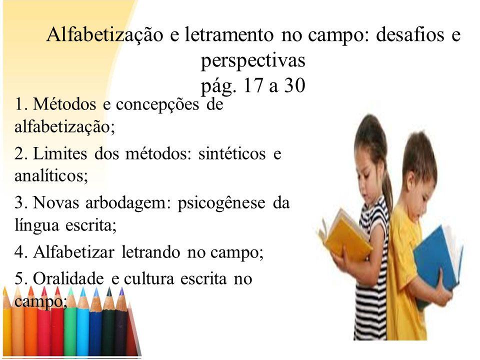 Alfabetização e letramento no campo: desafios e perspectivas pág