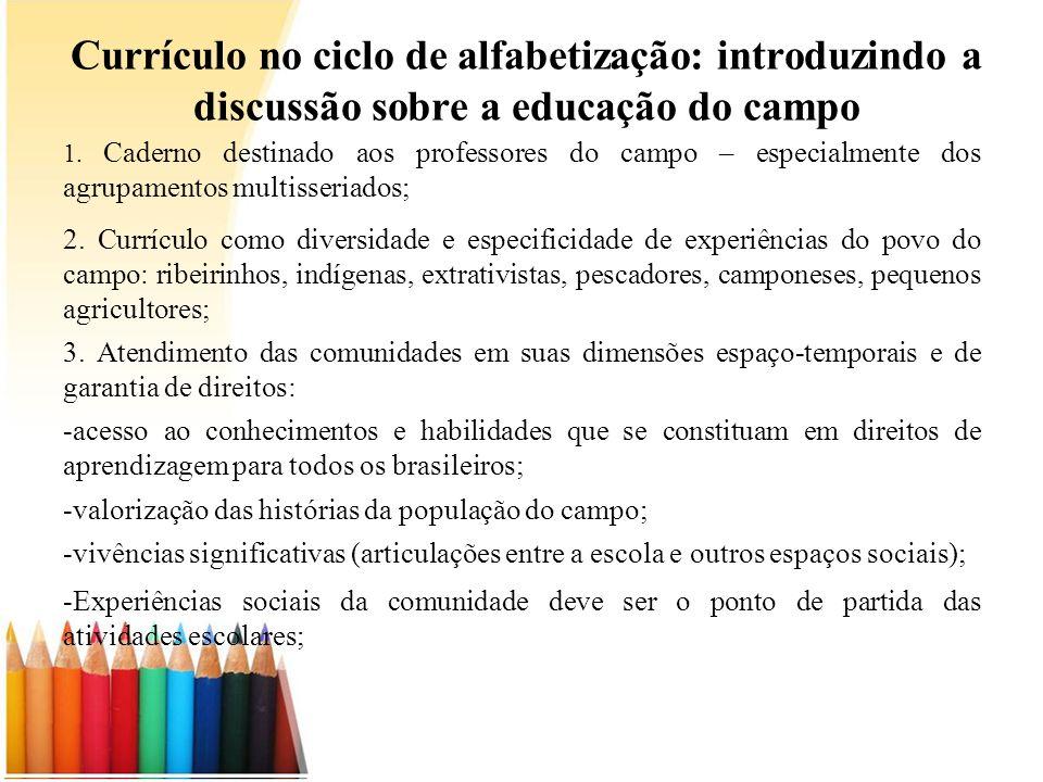 Currículo no ciclo de alfabetização: introduzindo a discussão sobre a educação do campo