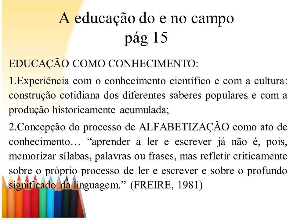 A educação do e no campo pág 15