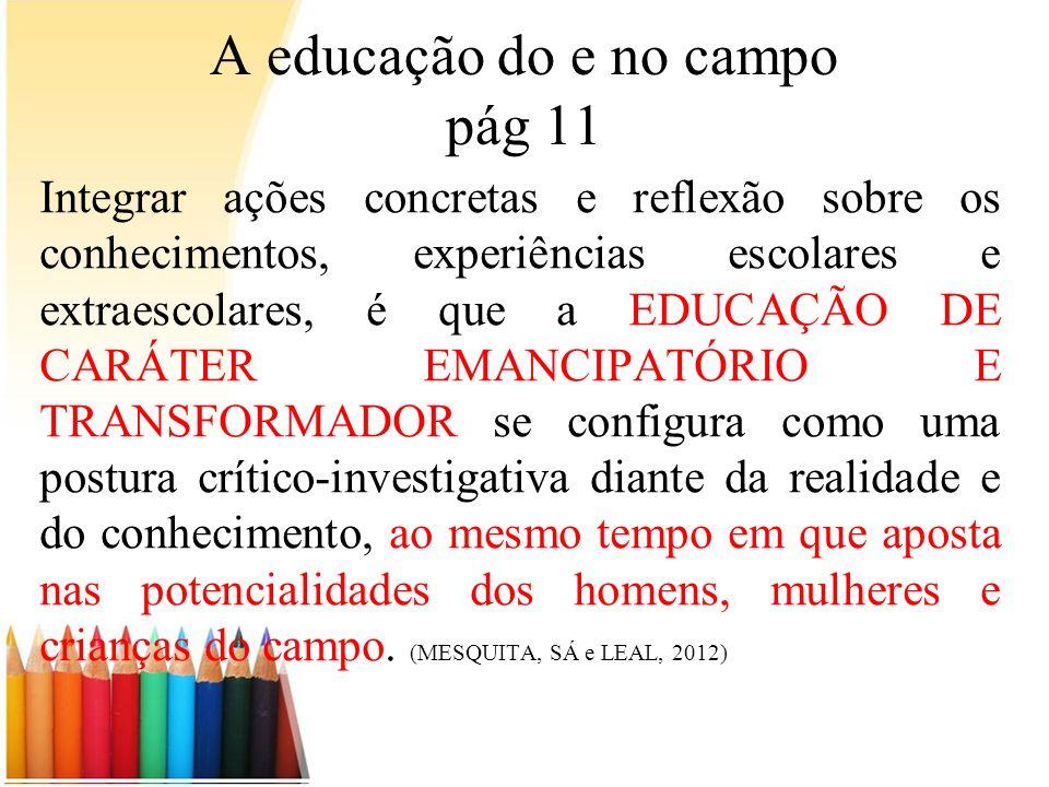 A educação do e no campo pág 11