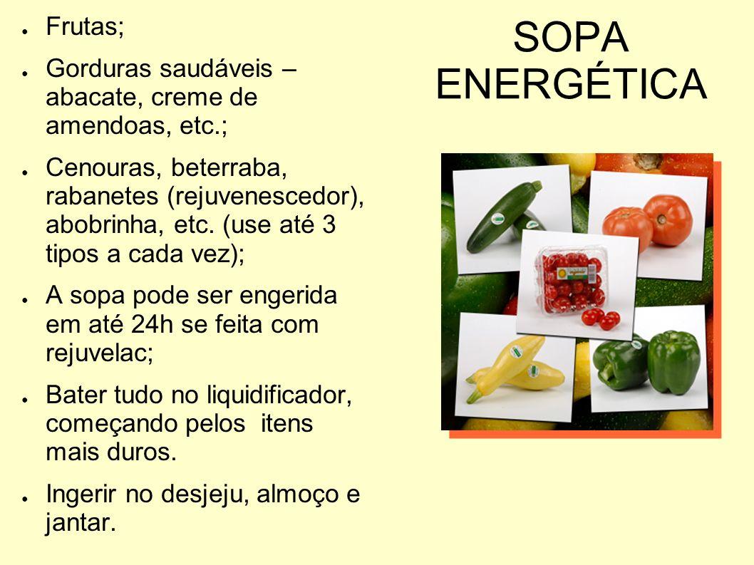 SOPA ENERGÉTICA Frutas;