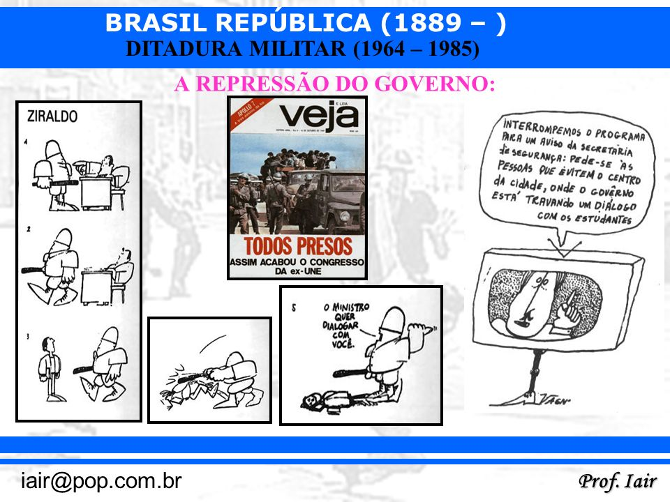 A REPRESSÃO DO GOVERNO: