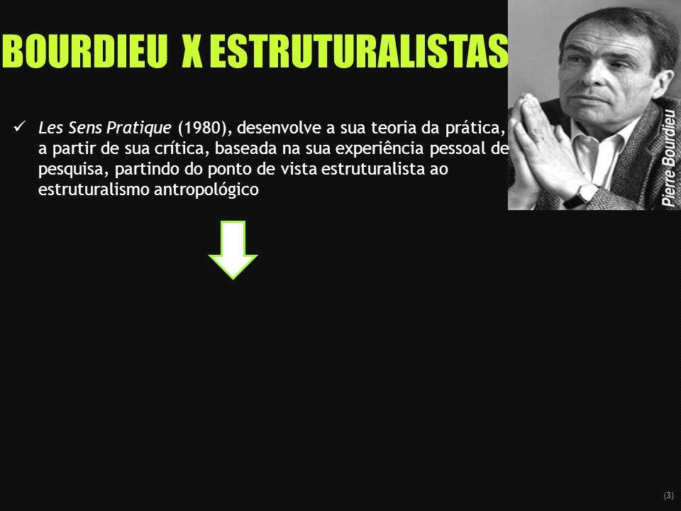 BOURDIEU X ESTRUTURALISTAS