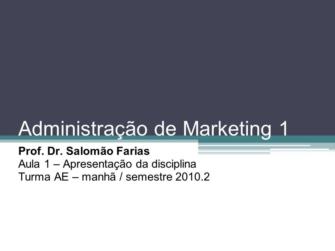 Administração de Marketing 1