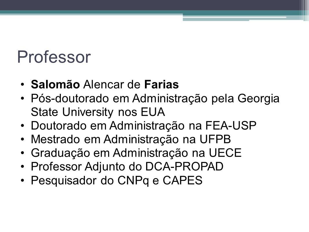 Professor Salomão Alencar de Farias