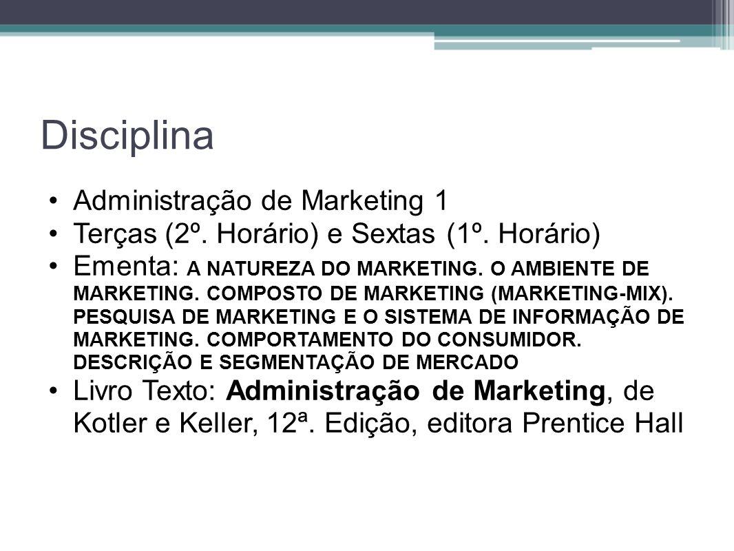 Disciplina Administração de Marketing 1