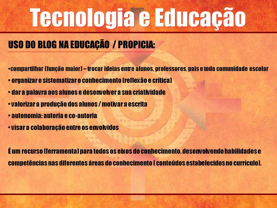 USO DO BLOG NA EDUCAÇÃO / PROPICIA: