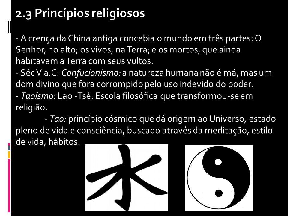 2.3 Princípios religiosos