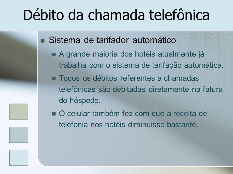 Débito da chamada telefônica