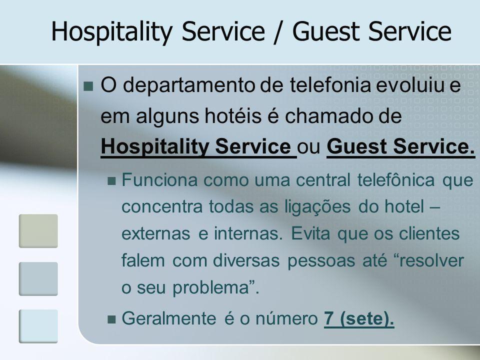 Hospitality Service / Guest Service