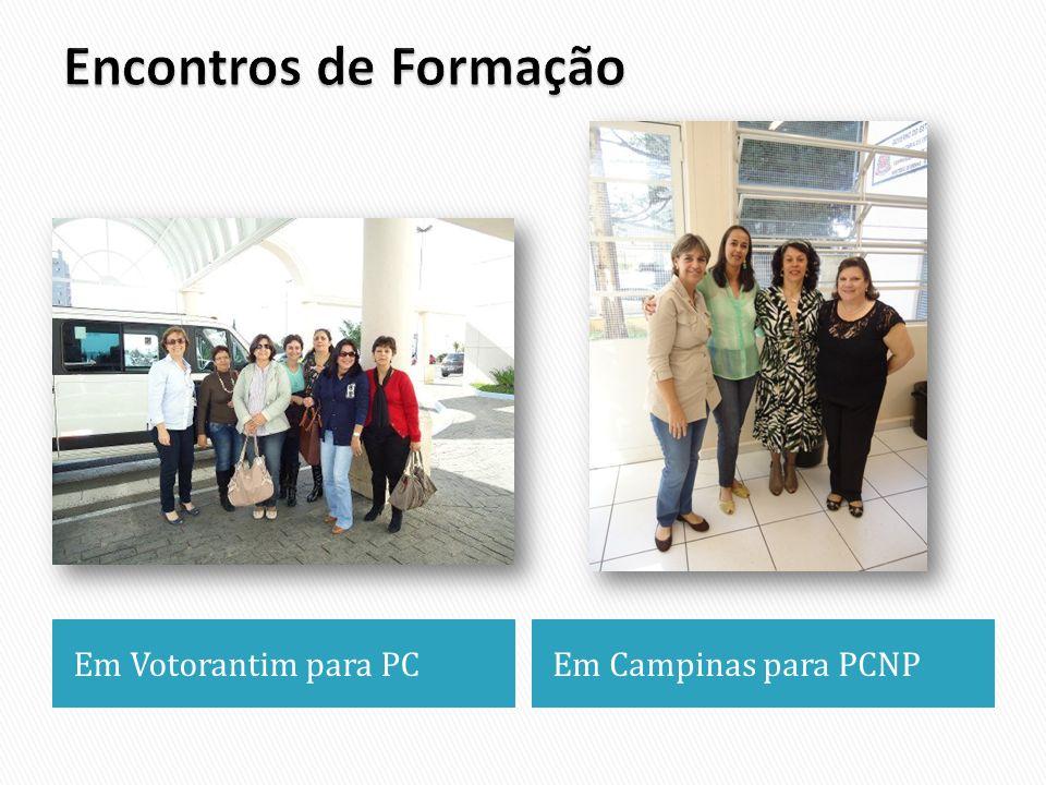 Encontros de Formação Em Votorantim para PC Em Campinas para PCNP