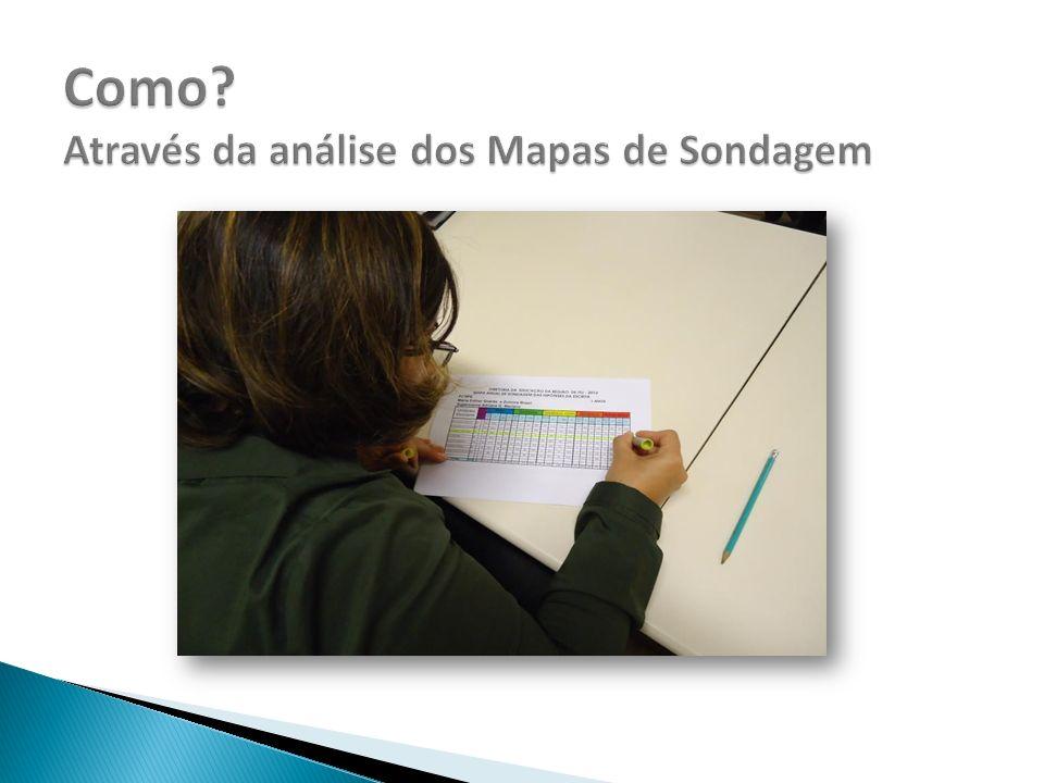 Como Através da análise dos Mapas de Sondagem