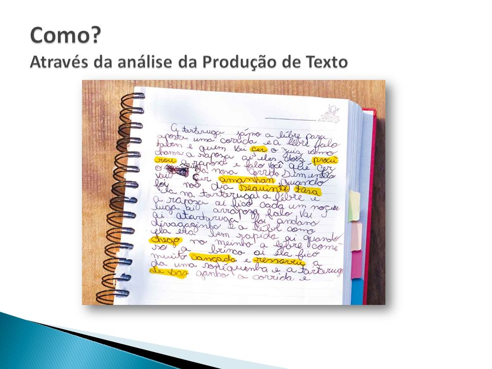 Como Através da análise da Produção de Texto