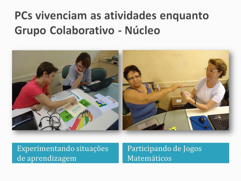 PCs vivenciam as atividades enquanto Grupo Colaborativo - Núcleo